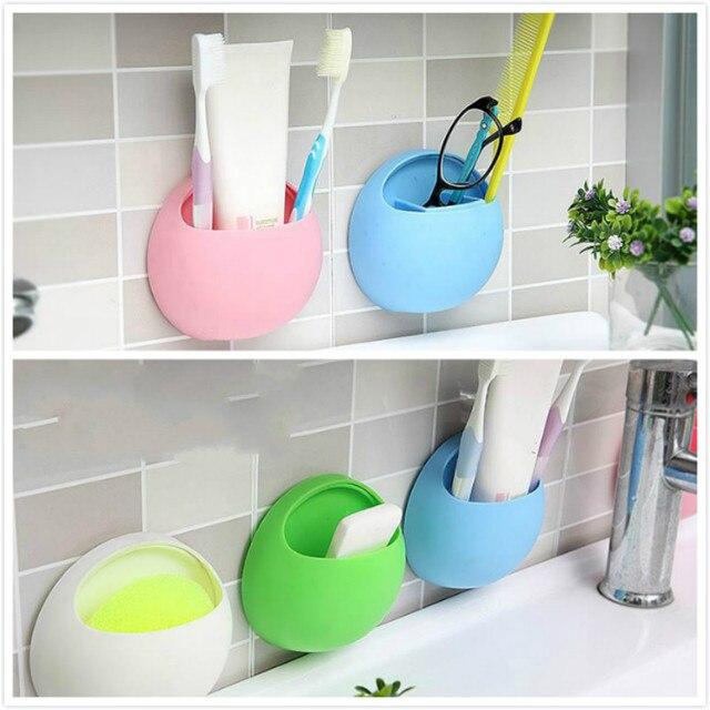 Useful Plastic Home Bathroom Toothbrush Holder Wall Mount