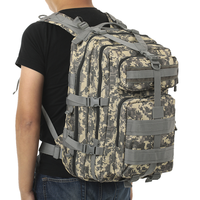 45L MOLLE Military Tactical Assault Pack Backpack Army Molle Waterproof Bug  Out Bag Small Rucksack for a0bd0a802c1b4