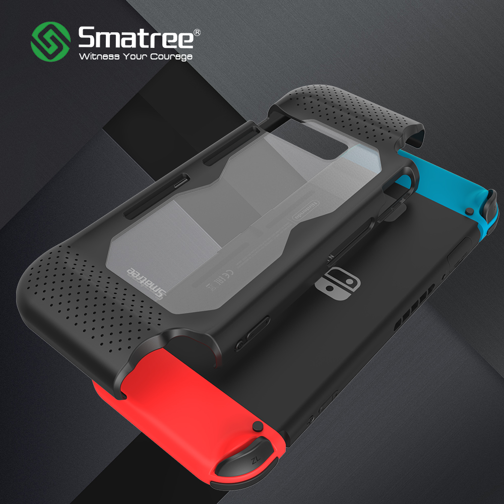 Smatree Hard Protective Case for Nintend Switch-Comfort handheld back cover for Nintendo Switch Console NS-Black/Red/Blue