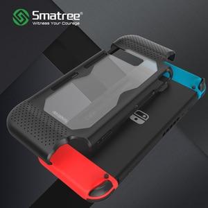 Image 1 - Smatree קשיח מגן מקרה עבור Nintend מתג נוחות כף יד חזרה כיסוי עבור Nintendo מתג קונסולת NS שחור/ אדום/כחול