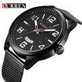 Curren relojes de los hombres superiores de la marca de lujo de la vaca de cuarzo de relojes deportivos relojes de los hombres a prueba de agua relogio heren hodinky 8236