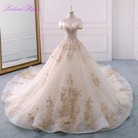 9738fdcec72cb Glamorous Lace Appliques Off The Shoulder Crystal Beaded Wedding Dresses  Long Vestido De Novia Bridal Gowns