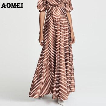 9d8f76a6f Qooth 2019 primavera nuevas Faldas largas de Mujer de marca a de moda  Faldas plisadas de Mujer de ...