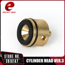 Elemen Mesin Berat Ringan Pengurangan Kuantitatif Ultra Silinder Kepala untuk Airsoft AEG Ver. 3 Gearbox IN0725