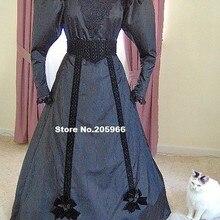 На заказ 1890s викторианское платье 1893 Edwardian платье для прогулок гей 90s Чай Вечерние платья