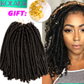 "14"" freetress soft faux locs crochet hair braid curly crochet faux locs dreadlock crochet braids hair extension soft dread locks"
