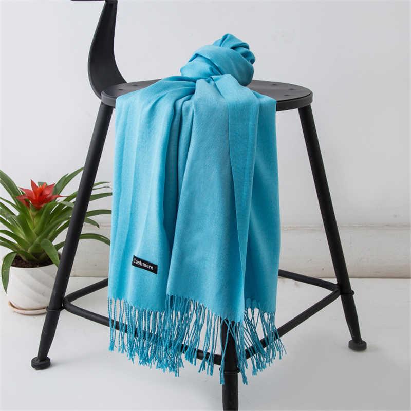 Nueva bufanda suave Unisex bufandas cálidas bufanda para primavera y otoño bufanda de cachemira blanca negra para caballero bufandas de negocios