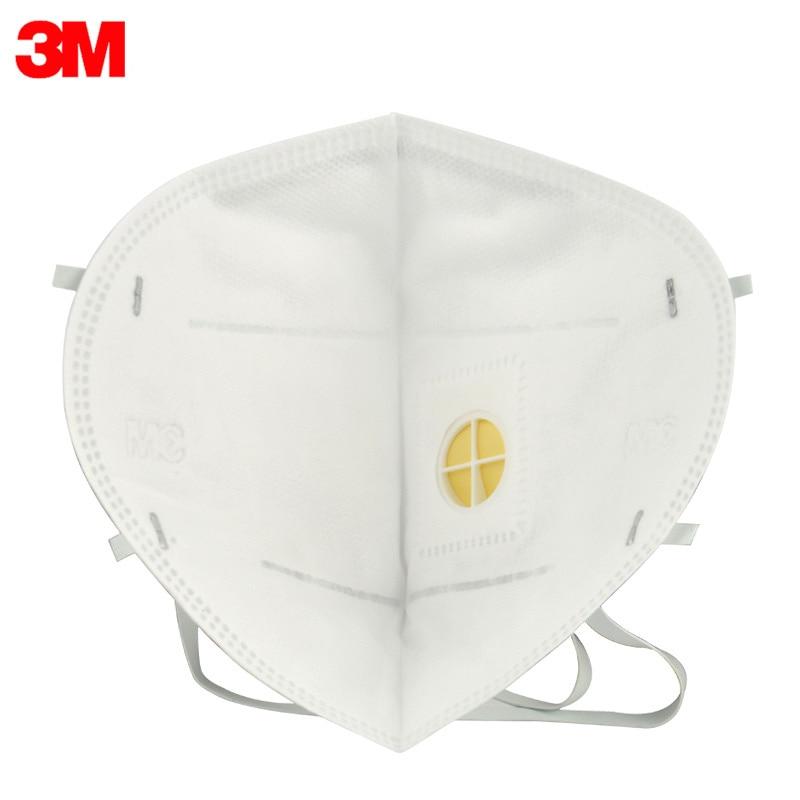 25pcs/lot 3M 9001V 9002V Dust Mask PM 2.5 Anti-fog Masks Anti influenza Breathing valve Adult KN90 Safety Particulate Respirator