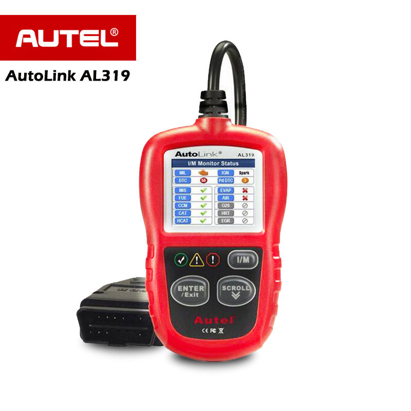 Autel AL319 OBD2 Scanner Car Code Reader Automotive OBDII Scaner Auto Diagnostic Scan Tool Fault Reader Diagnostics Scanner 2017 latest konnwei diagnostic code reader car fault auto scanner tool kw830 obdii eobd car detector automotive tool