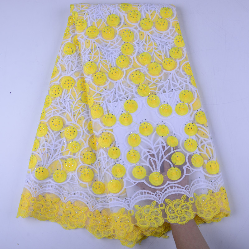 High Quality Embroidery Mesh Tulle Lace Fabric Fashion Women Dress Nigeria Lace African French Net Lace