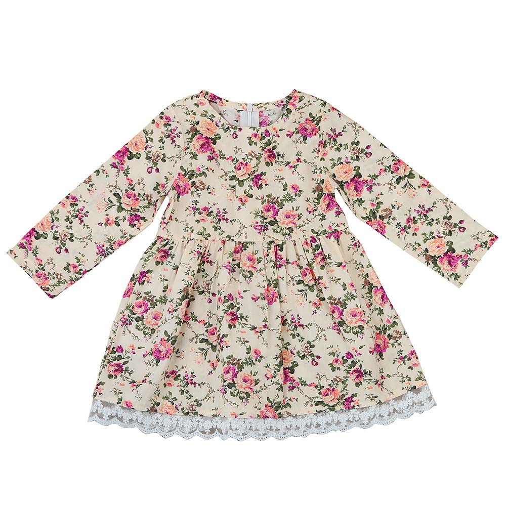 2018 Winter Dress Kids Baby Girls Toddler Kids Baby Girl Floral Lace Dress Pageant Princess Dresses Clothes costume for kids girls dresses trolls poppy cosplay costume dress for girl poppy dress streetwear halloween clothes kids fancy dresses trolls wig