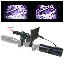 Nowy Gorący Laserowy Na Podczerwień noktowizor luneta sight Polowanie optyka z Podczerwieni Latarka i monitor LCD