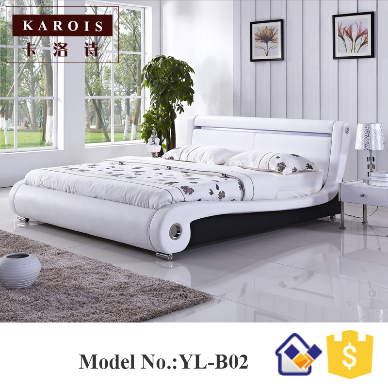 Professional Designer China Bedroom Furniture Beds Factory Direct Sale Low  Price Bed 180x200 Led Light Cama
