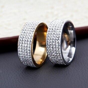טבעת נישואין מרובה קריסטלים