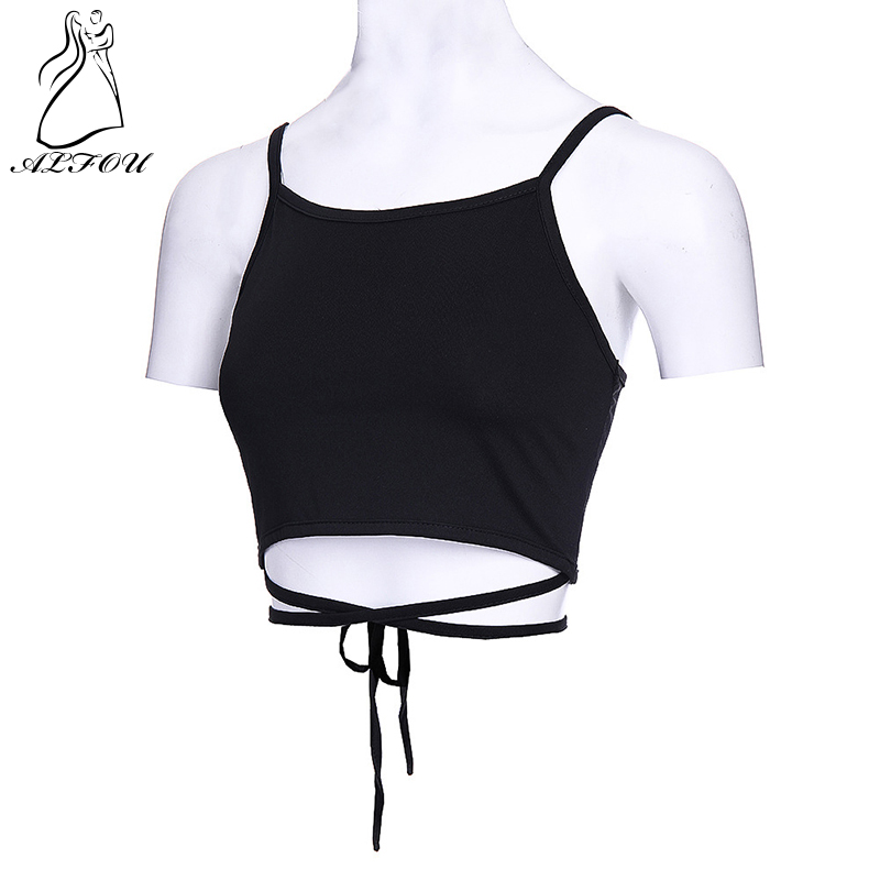 Sexy Vest Wrapped Short Camisole Bottom-Straps Backless Summer Women's Navel Chest Slim