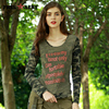 FREEARMY 2017 Autumn Mesh Top T Shirts Camouflage Long Sleeve T Shirts For Women Clothing Vetement