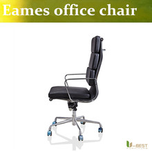 U-BEST high back backrest home office chair with wheels  ergonomic chair with real lather,soft pad computer chair high back
