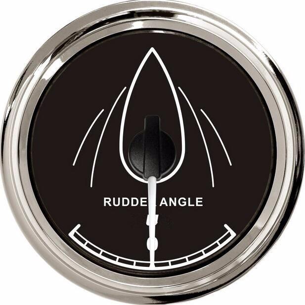 1pc boat gauges 85mm rudder angle gauges rudder angle meters fit for yacht boat 12v / 24v with sensor kus marine accessories marine instrumentation rudder angle indicator rudder angle table rudder angle sensor 12v 24v