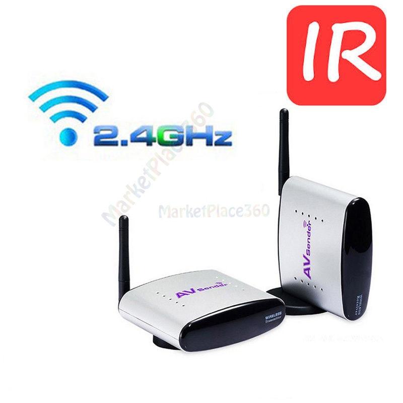 ФОТО 2.4G Audio AV Sender IR Remote Wireless Extender Transmitter RCA Receivers