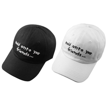 f22258d808a 20 Embroidered Hold Onto your Friends casquette Baseball Cap Strapback  Black White Pink for men women