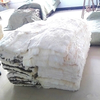 Customized Genuine white color rabbit fur skin pelt rug blanket for home textile