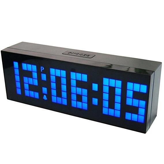 Horloge de signe de LED de salle de sport de chambre grand nombre LED Jumbo Snooze horloge de compte à rebours de bureau de mur avec l'affichage de température de calendrier de minuterie