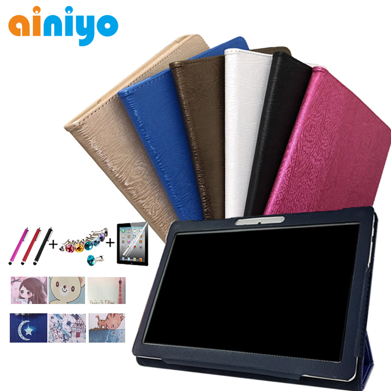 Cartoon PU Leather Cover for CARBAYTA CARBAYSTAR CIGE T805C K999 S109 CB99 10.1 inch Tablet Folio Stand Case + flim touch pen universal 9 7 10 inch tablet pc wallet pu leather case for irbis tw21 10 1 inch table stand cover center flim pen kf553c