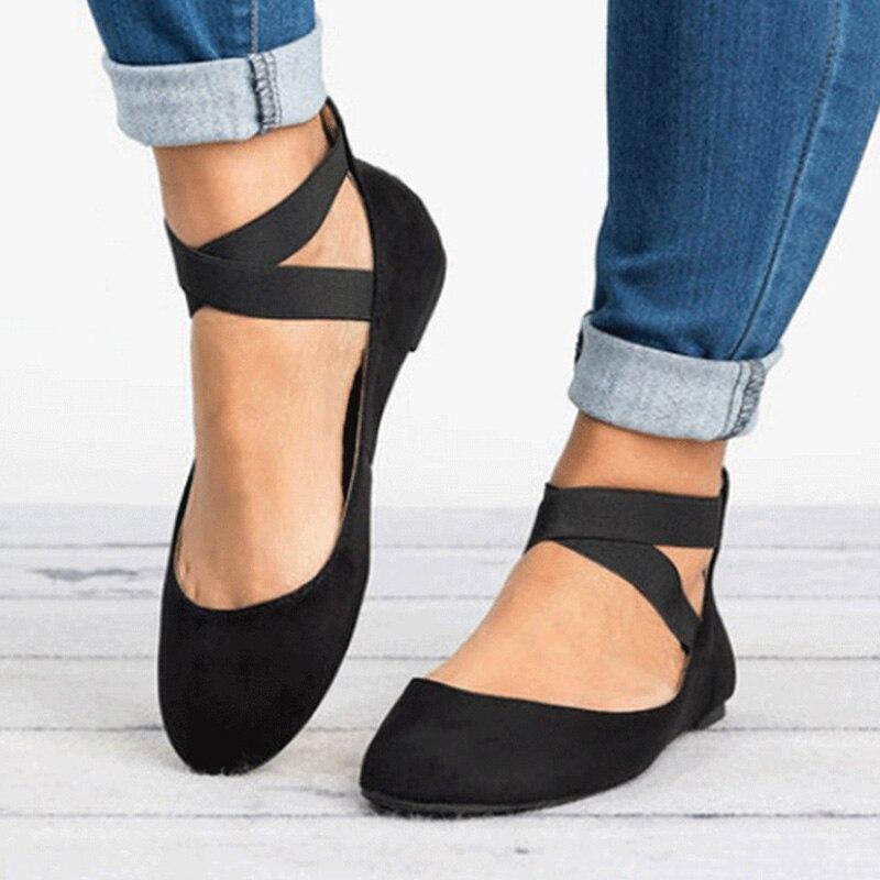 Весенняя женская обувь на плоской подошве, модная женская обувь на молнии, женские балетки на плоской подошве с ремешком на щиколотке, замше...