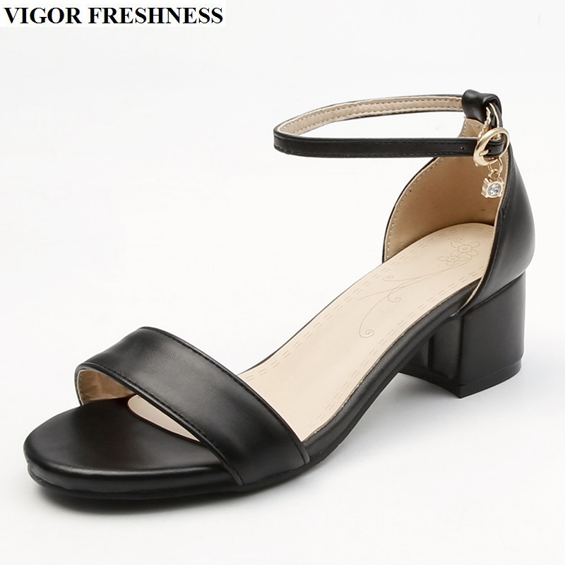 где купить VIGOR FRESHNESS Sandals Women Shoes Heels Summer Open Toes High Heels Shoes Summer Ladies Sandals Dress Party Lady Shoes M09 по лучшей цене