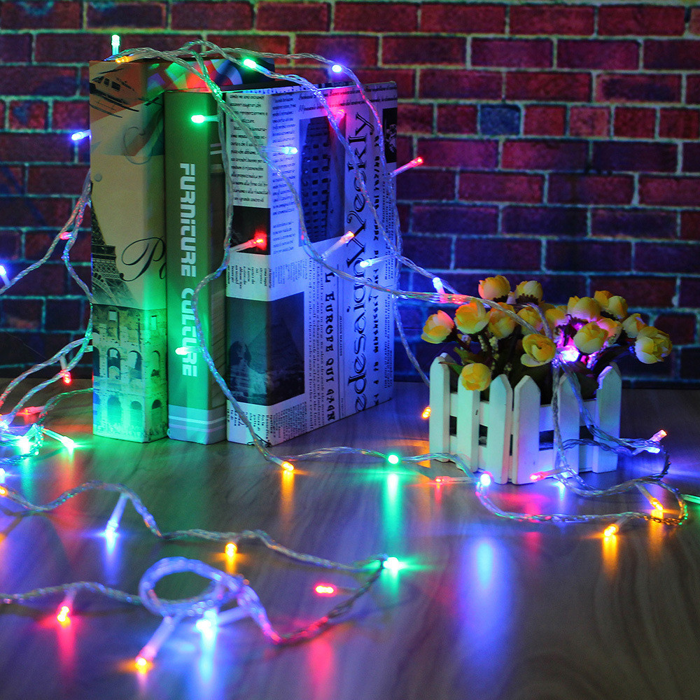 Waterproof Led String Light 8.5M 100leds & Music & Controller Fairy Decoration 8 Modes Indoor/Outdoor For Party,Concert,Xmas