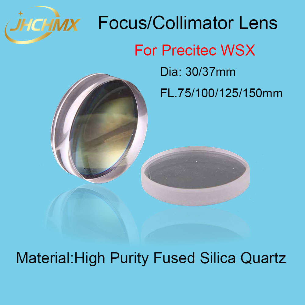 High Quality Precitec WSX Focusing Lens/Collimator Lens Dia30/37mm FL75/100/125/150mm For Precitec WSX Fiber Laser Cutting Head lskcsh 10pcs lot wsx precitec fiber laser ceramic ring nozzle holder wtc 02 mini cutting head high quality wholesale agents