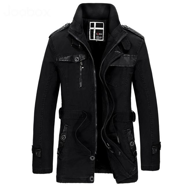 Cuello alto homme manteau largo lining velet gruesa caliente trinchera abrigo para los hombres