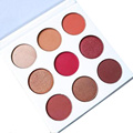 FLOSSY SUNFLOWER Makeup Matte Kyshadow Cosmetics 9 Colors BURGUNDY Eyeshadow Pallete Make Up Shining Eyeshadow Palette Maquiagem