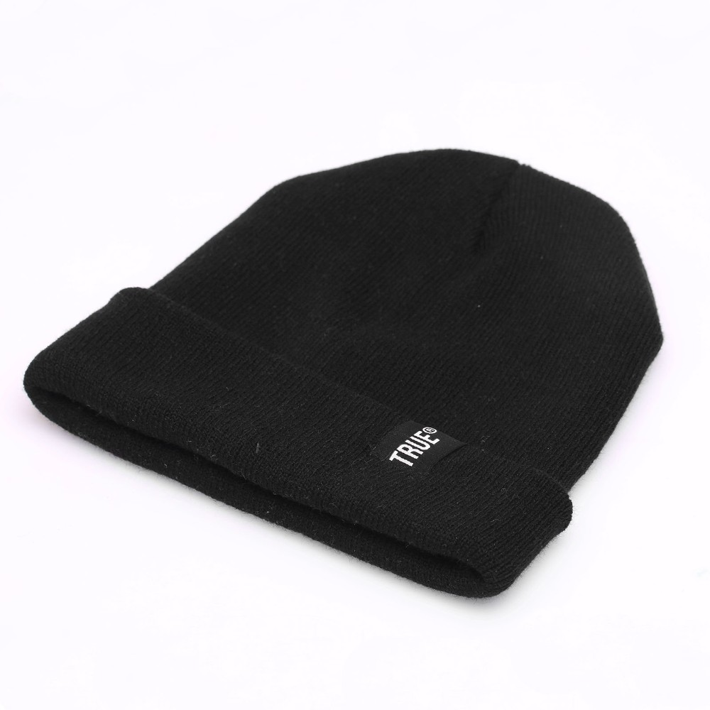 Letter True Casual Beanies for Men Women Fashion Knitted Winter Hat Solid Color Hip-hop Skullies Bonnet Unisex Cap Gorro 3