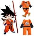 Primavera Menino Goku Kong Fu Traje Infantil Bola Dragão Dos Desenhos Animados Manga Curta Romper Bebe Roupas de Presente de Aniversário o Dia Das Bruxas
