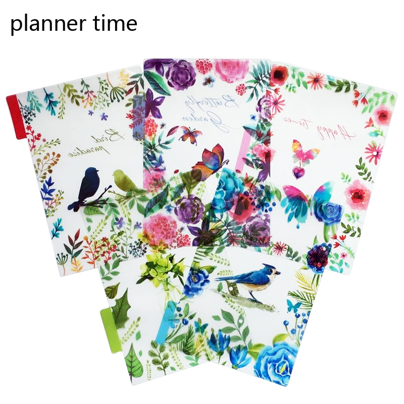 Planner Time A5/A6 6 Holes Colored Notebook's Index Page 5pcs/set Matte Spiral Book Category Page Office Planner Accessories  Lahore