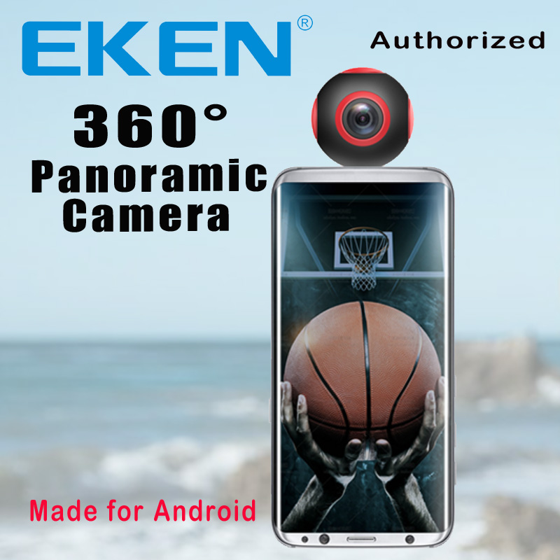 EKEN Newest Arrival 360 Camera VR Camera 1920*960 Ultra HD Mini Panorama 360 Degree video Cam For Andriod Smartphone image