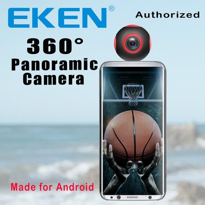 EKEN nouvelle arrivée 360 caméra VR caméra 1920*960 Ultra HD Mini Panorama 360 degrés caméra vidéo pour Smartphone android