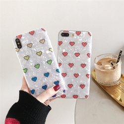 Phone Case For iPhone 6 6s 7 8 Plus Case iPhone X XS XR Xs Max Dream Shell Mickey Minnie Mouse Love Heart Fruit Case Soft Cover 5