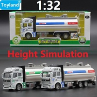 BEST Gift 1 32 Alloy Sanitation Engineering Vehicle Simulation Fuel Tank Car Model Gift For Children