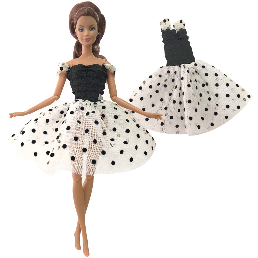 NK Doll Dress Ballet Dancing Outfit  Handmade Party Clothe Casual Skirt For Barbie Doll Accessoires Girls' Gift 036N 6X