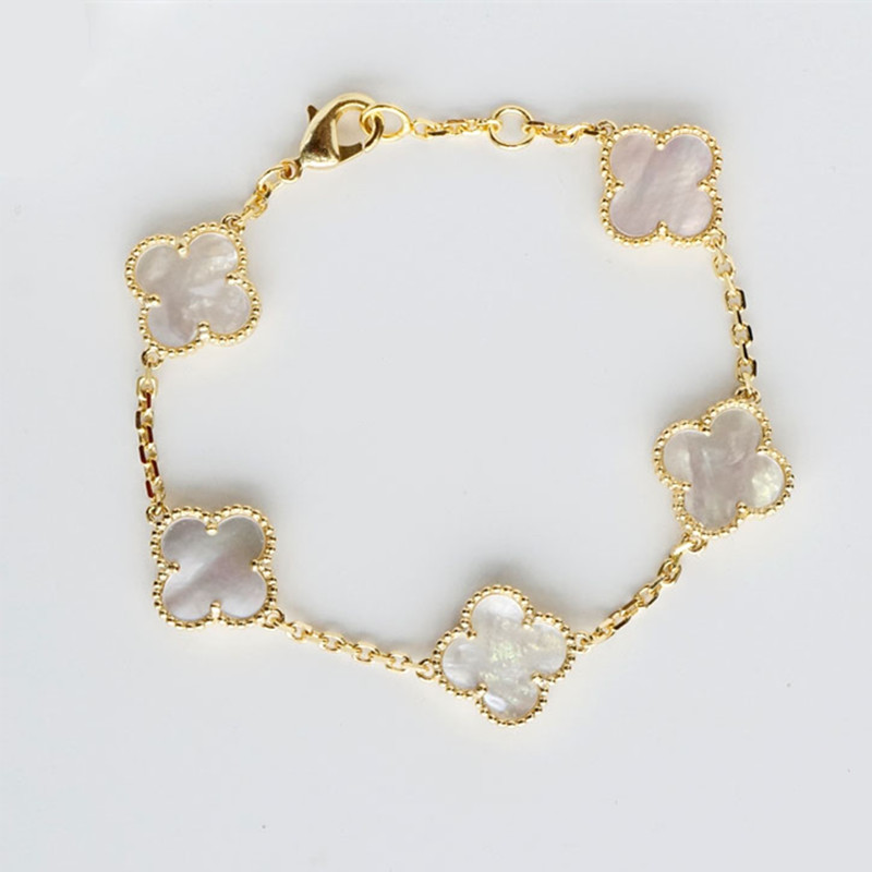 Superior Gifts Plated 18k Gold 925 Sterling Silver Four Leaf Clover Bracelet Headdress Female Plate Real Pearl S Agate In Hair Accessories From Women