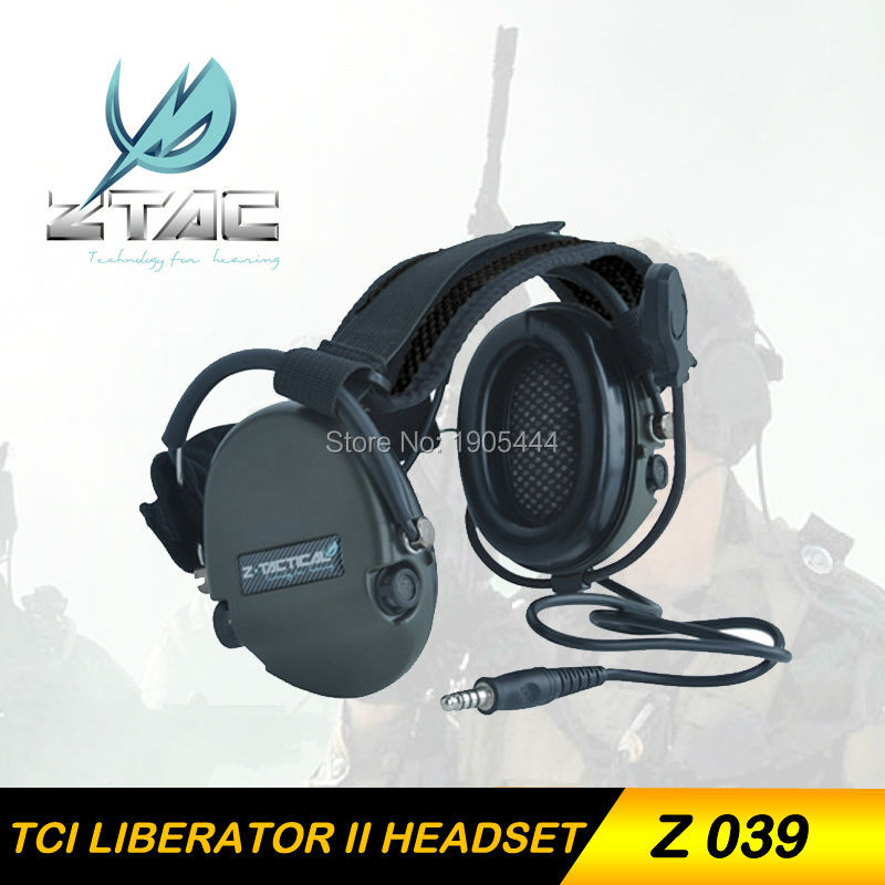 Z-TAC Z 039 Earphone Element Z-Tactical TCI LIBERATOR II Neckband Headset Tactical Military Hunting Microphone Headphone генератор дыма antari z 800 ii