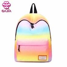 Gajia Лидер продаж Школьные сумки для постепенно Обесцвеченный рюкзак Водонепроницаемый холст мужской и женский общий рюкзак Сумки на плечо