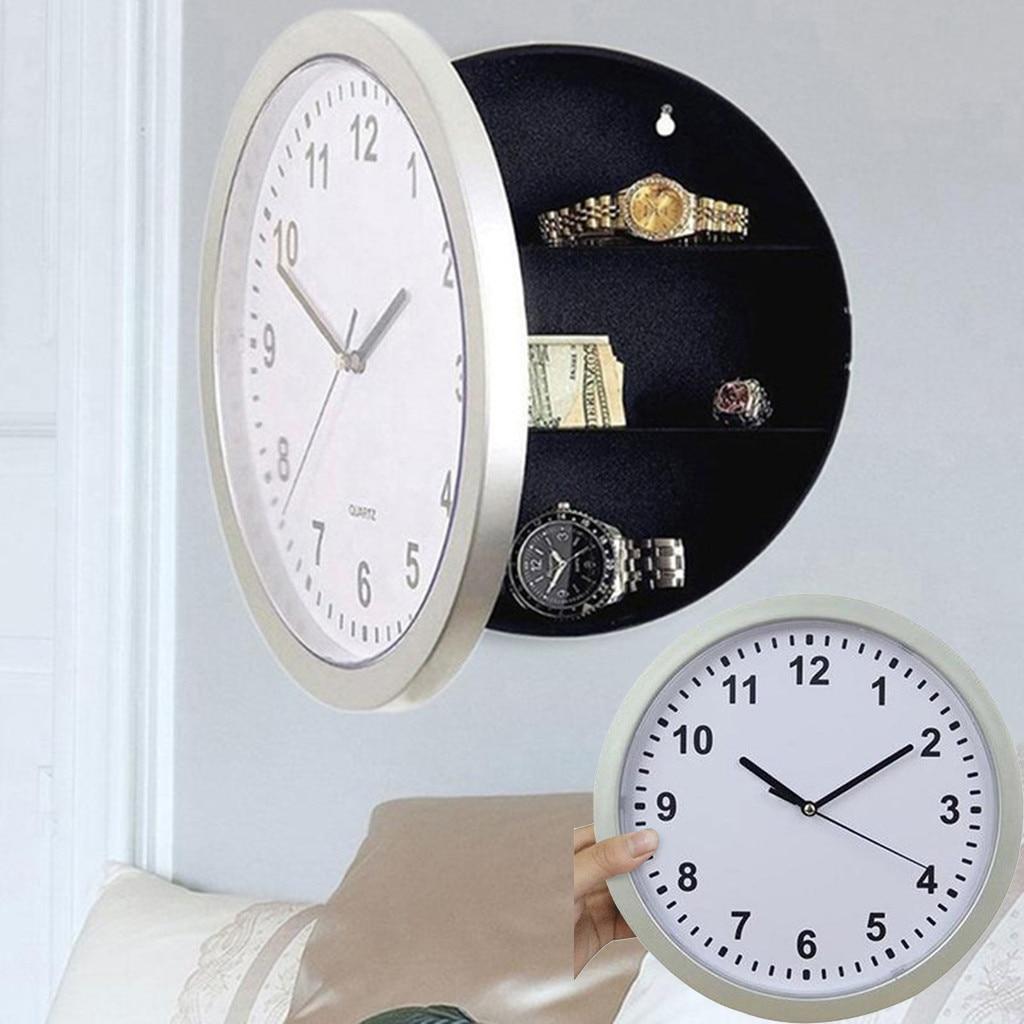 Wall Clock Home Creative Storage Box Clock Insurance Jewelry Box Hidden Storage Clock Wallet L524