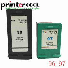 цена на 2pcs For hp 96 97  Ink Cartridge  PhotoSmart 8100 8450 2610 2710 8750 For hp  Deskjet 5740 6540 6840 9800 printer for hp96