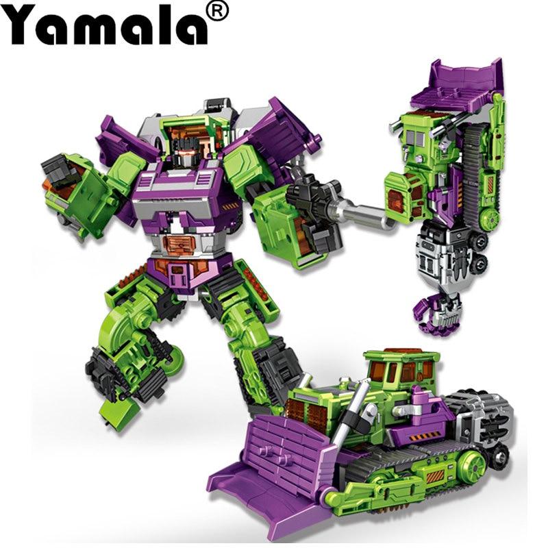 [Yamala]  Transformation 5 NBK NBK-03 Bulldozer Bonecrusher Gravity Builder Devastator figure toy in stock toy generation toy gt 01a gravity builder devastator scrapper