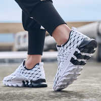 QZHSMY Men Vulcanize Shoes Summer Black Breathable Casual Sports Male Sneakers Mesh Trainers Lace-up Flat Shoes Plus 39-47