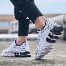 QZHSMYผู้ชายVulcanizeรองเท้าฤดูร้อนสีดำBreathable Casualกีฬาชายรองเท้าผ้าใบตาข่ายรองเท้ากีฬาLace Upรองเท้าแบนPlus 39 47