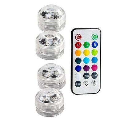 Подводные светодиодные лампы водонепроницаемый SMD3528 RGB подводный ночник Свадебный Чай Ваза-лампа чаша вечерние новогодние гирлянды - Испускаемый цвет: 4 Lamp 1 controller
